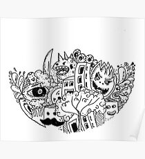 Sketch 70 - Doodle Abstract Poster