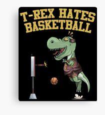 T-Rex Hates Basketball Canvas Print