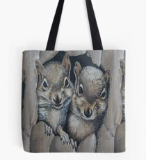 Two Little Squirrels  Tote Bag
