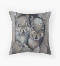 Two Little Squirrels  Throw Pillow