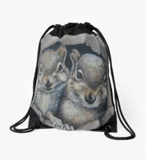 Two Little Squirrels  Drawstring Bag