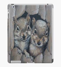 Two Little Squirrels  iPad Case/Skin