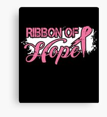 Ribbon Of Hope Breast Cancer Awareness T-Shirt Canvas Print