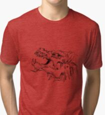 Sketch 78 - Dragon head Tri-blend T-Shirt