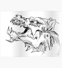 Sketch 78 - Dragon head Poster
