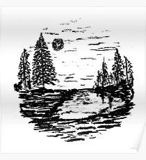 Sketch 80 - Ink Landscape Poster
