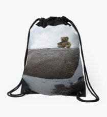 Little Ted Meets The Loch Ness Monster ! Drawstring Bag