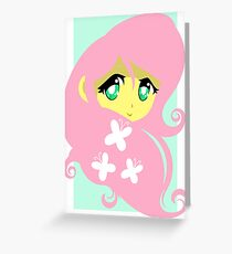 g4 my little pony anime style fluttershy Greeting Card