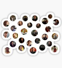 Teen Wolf Cast Dots Sticker