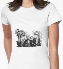 Sketch 82 - Ink Landscape Women's Fitted T-Shirt