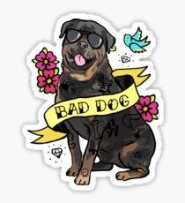 Bad Dog Rottweiler Tattoo Sticker