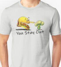Hamburger And Broccoli  Unisex T-Shirt