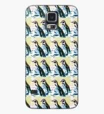 Painterly penguin repeat pattern  Case/Skin for Samsung Galaxy