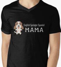English Springer Spaniel Mama Men's V-Neck T-Shirt