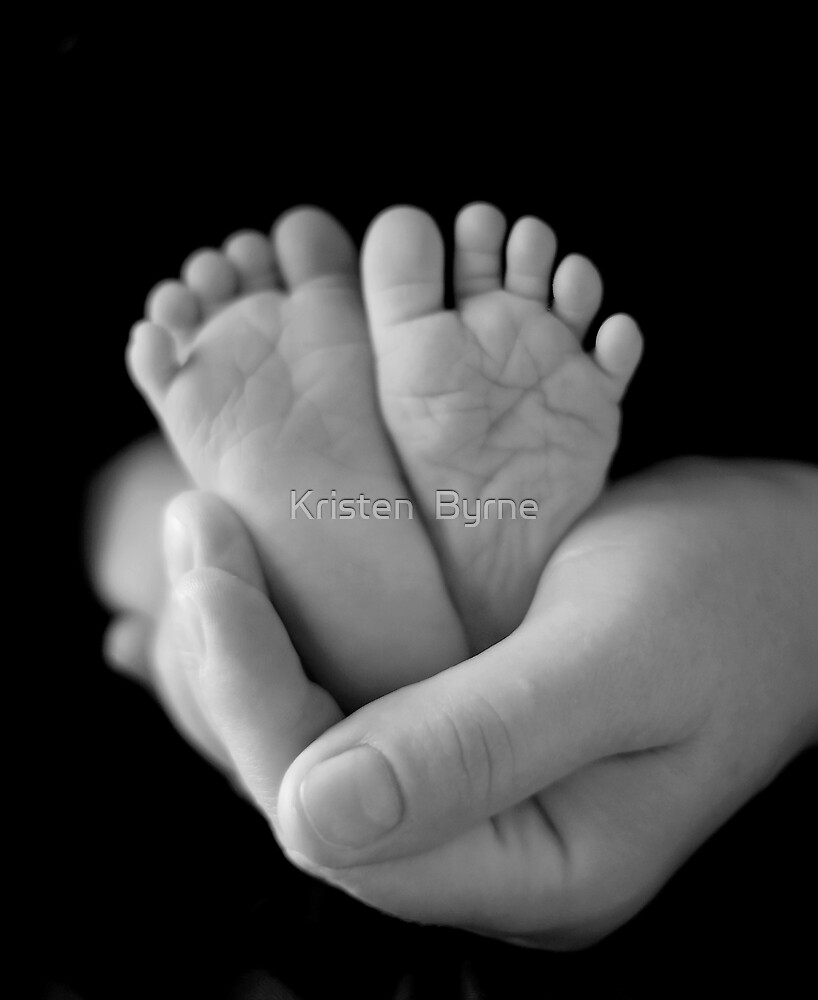 Ten Tiny Toes in the palm of a Mother's hand by Kristen  Byrne