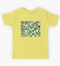 Small tiles blue, green, gold Kids Tee