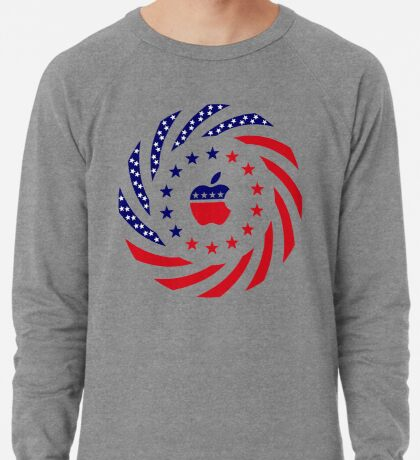 Apple Murican Patriot Flag Series Lightweight Sweatshirt