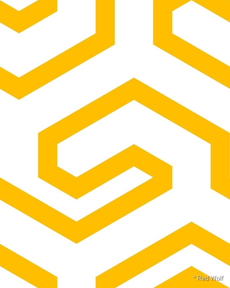 Geometric Pattern: Key Hook: Yellow by * Red Wolf