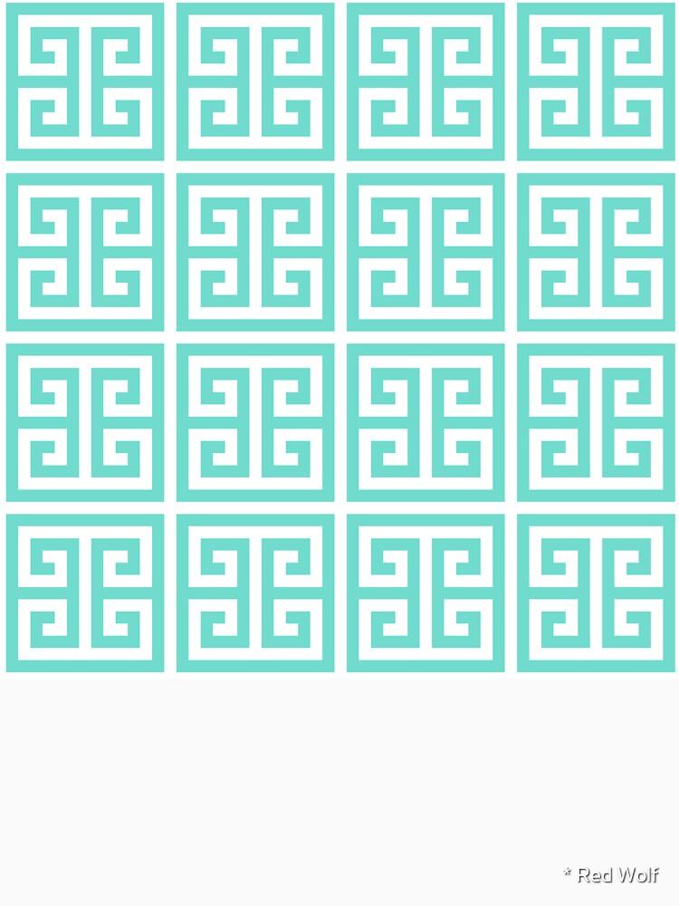 Geometric Pattern: Key Bridge: Blue by redwolfoz