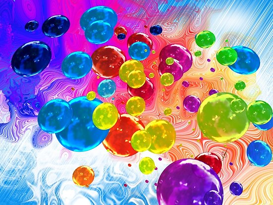 When Rainbows Melt Into Bubbles by Elaine Bawden