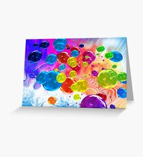 When Rainbows Melt Into Bubbles Greeting Card