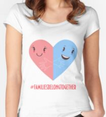 Families belong together. Stop separating families. Women's Fitted Scoop T-Shirt