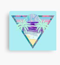 Ocean Vaporwave Canvas Print