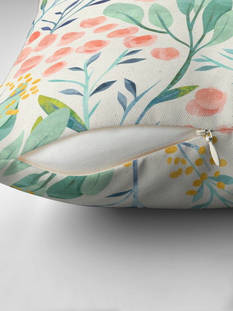 Alternate view of Botanical Garden Throw Pillow