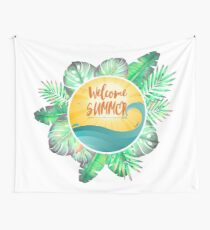 Welcome Summer Wall Tapestry