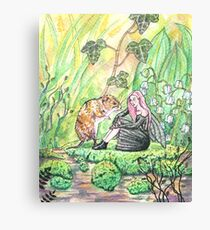 Fairy and her friend vole Canvas Print