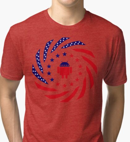 Android Murican Patriot Flag Series Tri-blend T-Shirt
