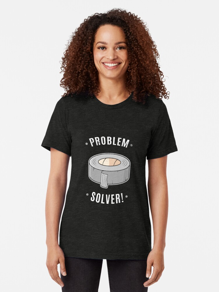 Alternate view of Duct Tape - Problem Solver Tri-blend T-Shirt