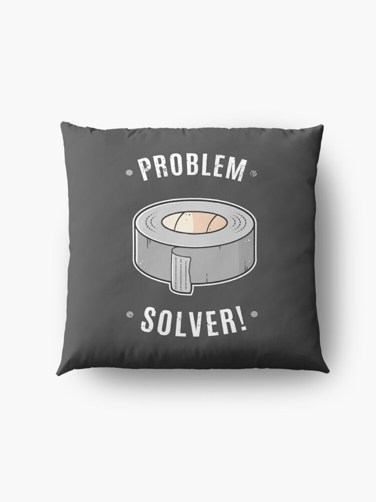 Alternate view of Duct Tape - Problem Solver Floor Pillow