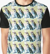 Painterly penguin repeat pattern  Graphic T-Shirt