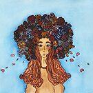 The Girl with flowers by VIktoria Gavrilenko
