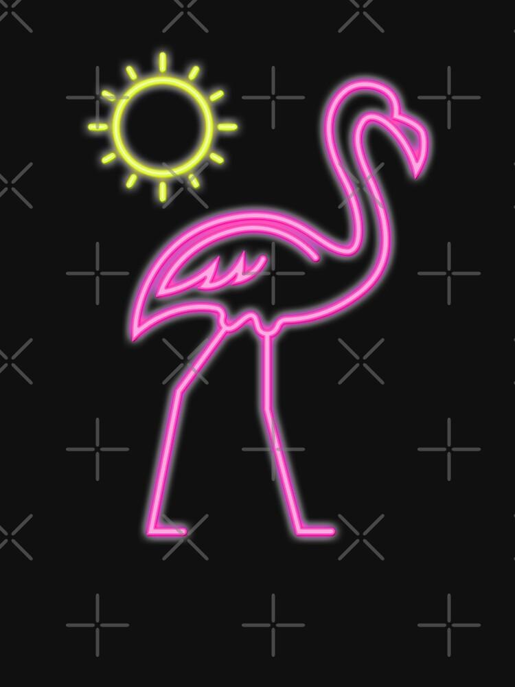 Retro Flamingo Neon T Shirt 80s Neon Sign Pink Flamingo Classic T
