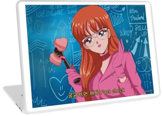 'BLACKPINK - Lisa DDU-DU DDU-DU 90's anime' Laptop Skin by hanavbara