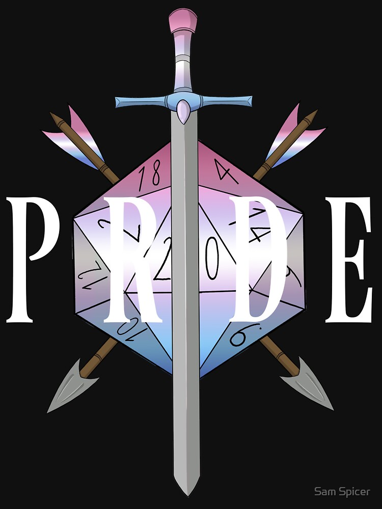 Critical hit! - Bigender Pride by flailingmuse