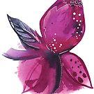 The purple peon flower by VIktoria Gavrilenko