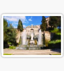 Waterfall of the Hidraulic Organ (Bernini) - Villa d'Este - Tivoli Sticker