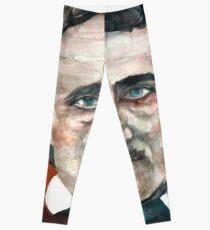EDGAR ALLAN POE - watercolor portrait.5 Leggings