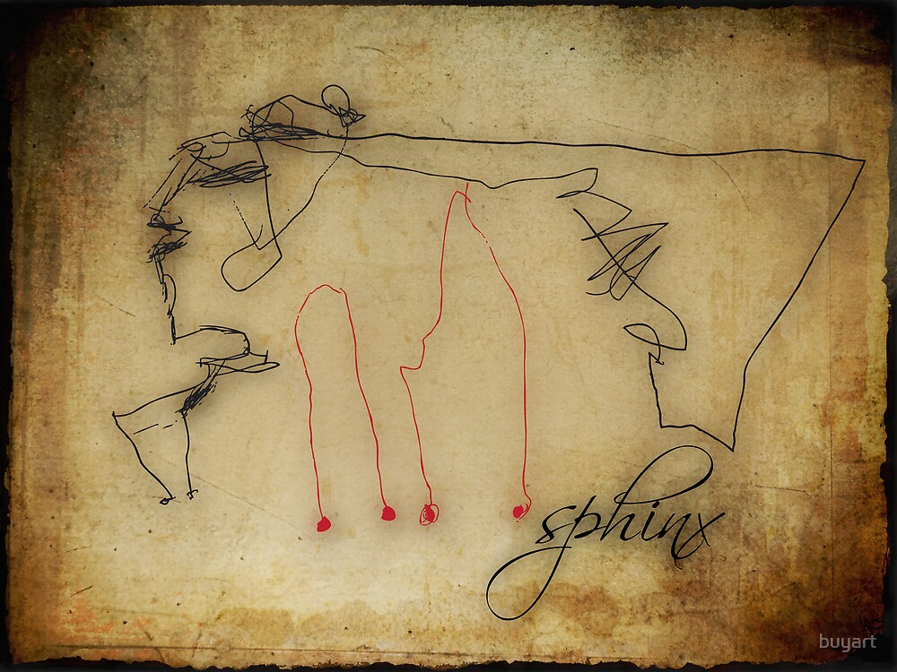 """""""Sphinx"""" - my 3 years old daughter's drawing... by buyart"""