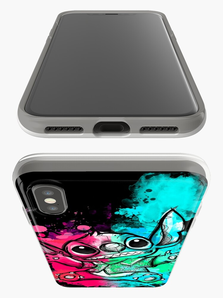 Vista alternativa de Funda y vinilo para iPhone Cuteless Rainbow Stitch - OHANA