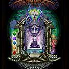 Alien alchemist burner's psychedelic dream temple by Giohorus