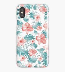 Tropical Flowers Palm Leaves Finesse #2 #tropical #decor #art  iPhone Case