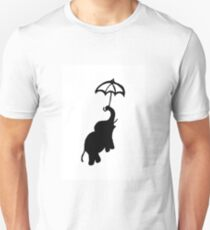 Elephant and umbrella Unisex T-Shirt