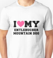 I Love My Entlebucher Mountain Dog Dog Breeds Gift Unisex T-Shirt
