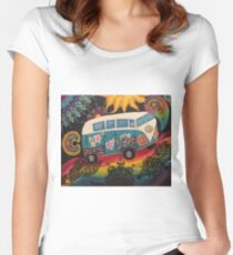 The dream bus  Women's Fitted Scoop T-Shirt