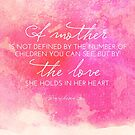 Definition of a Mother, Bereaved Mothers, Mother's Day by Franchesca Cox