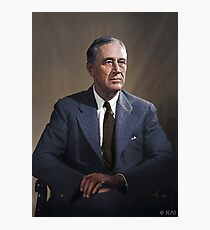 Franklin D. Roosevelt, 1944 colorized Photographic Print